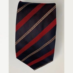 Burberry Stripe Plaid Men's 100% Silk Tie